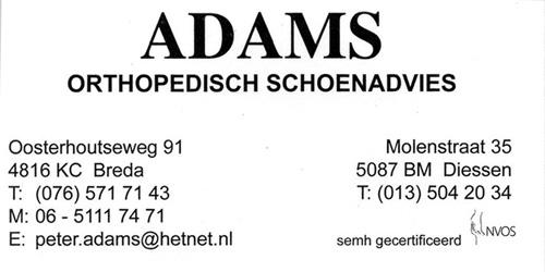 Adams Orthopedisch Schoenadvies