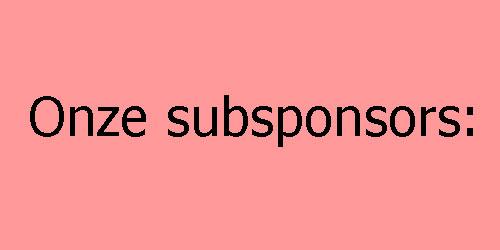 Onze Subsponsors
